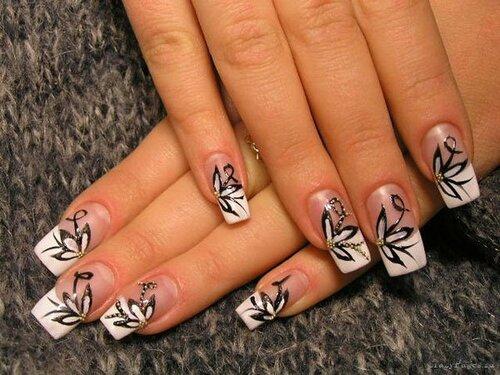 Роспись ногтей — фото