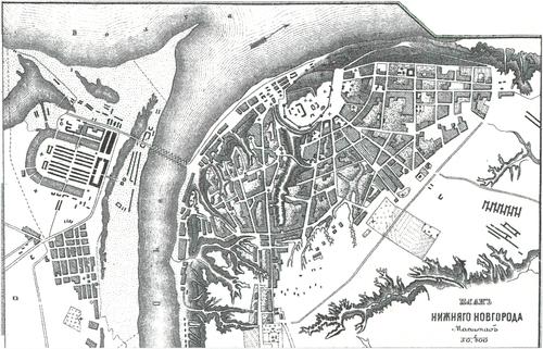 Генплан города Нижнего Новгорода на 1876 год