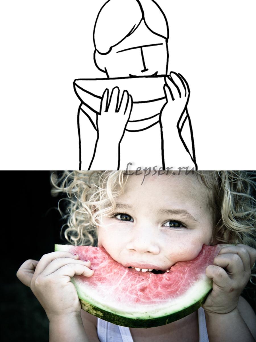 Красивые позы для фото ребенка