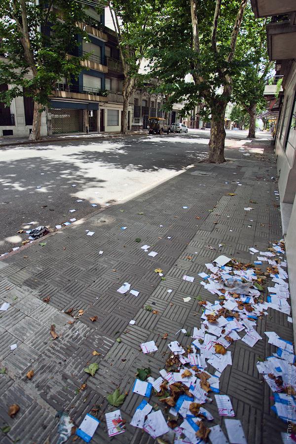 4. Безлюдные кварталы постновогоднего Монтевидео.