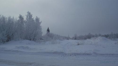 Фото города Инта №3523  Вид в западном направлении от северо-западного угла Морозова 14 10.02.2013_12:12