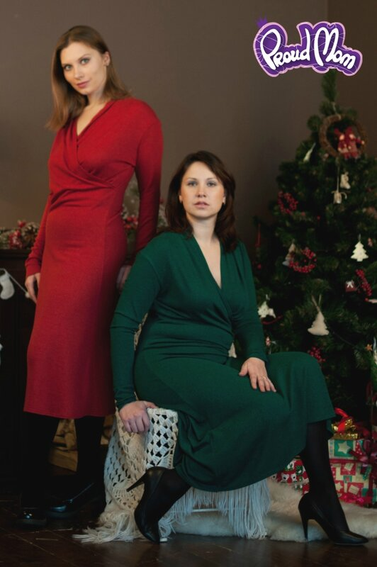 Платье для кормящих Рождественское Proud Mom