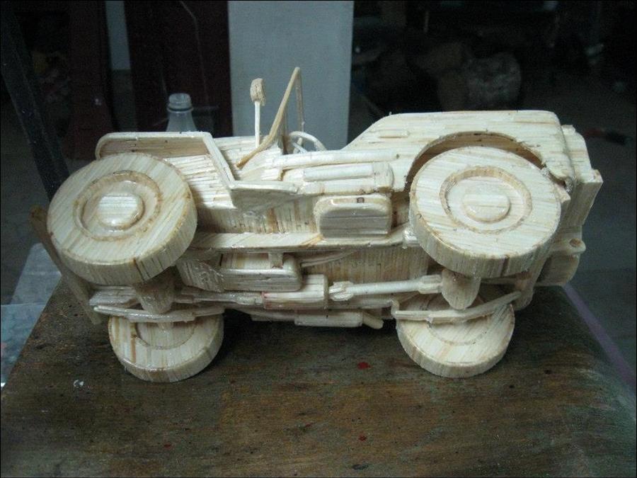 автомобили из спичек