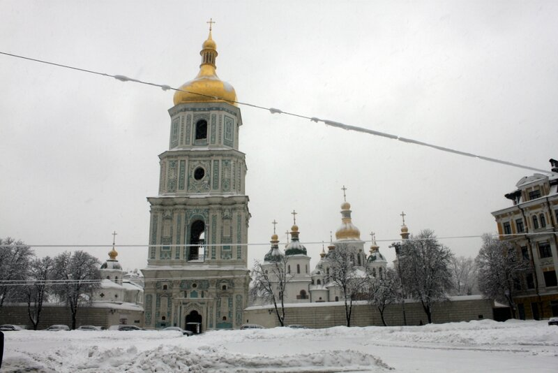 Софиевская площадь зимой