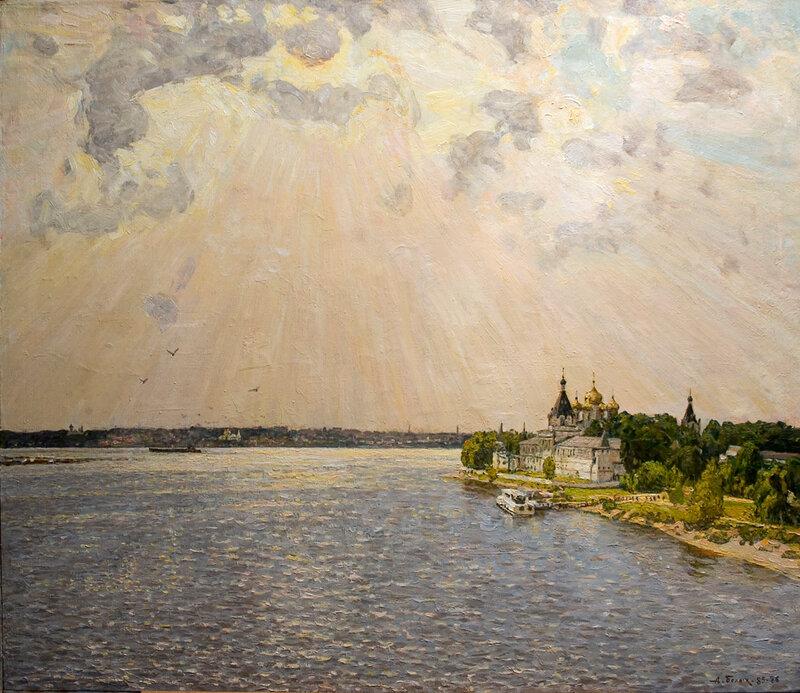 Алексей Павлович Белых.  Волга у Ипатия, 1985