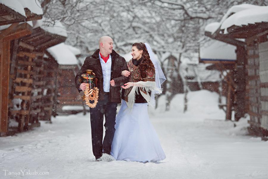 Свадьба зимой где была фотосессия