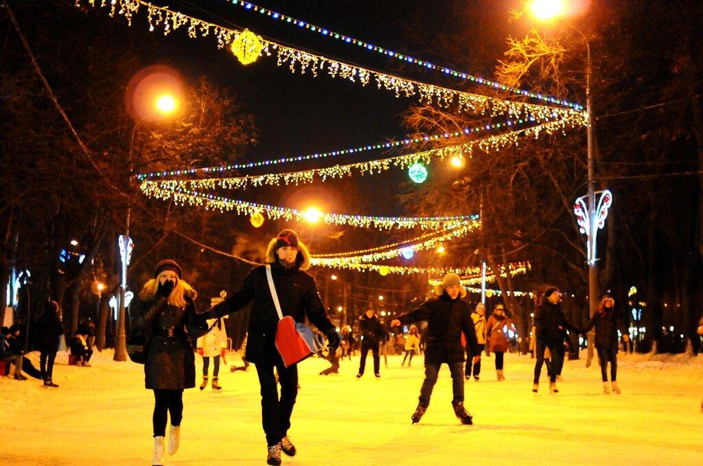 Зима в парке Сокольники