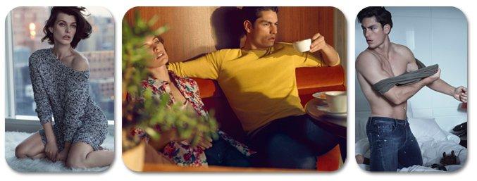 Milla Jovovich and Tyson Ballou / Милла Йовович и Тайсон Баллу в рекламе Sisley, весна-лето 2013