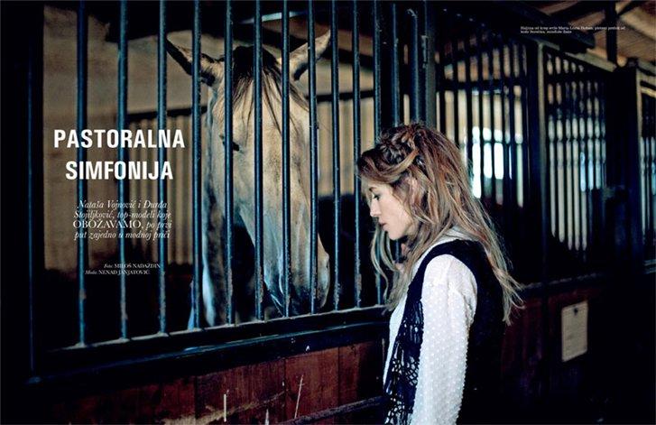 Natasa Vojnovic and Georgina Stojiljkovic by Milos Nadazdin in Elle Serbia may 2013