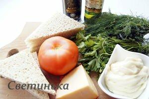 продукты для томатного бутерброда