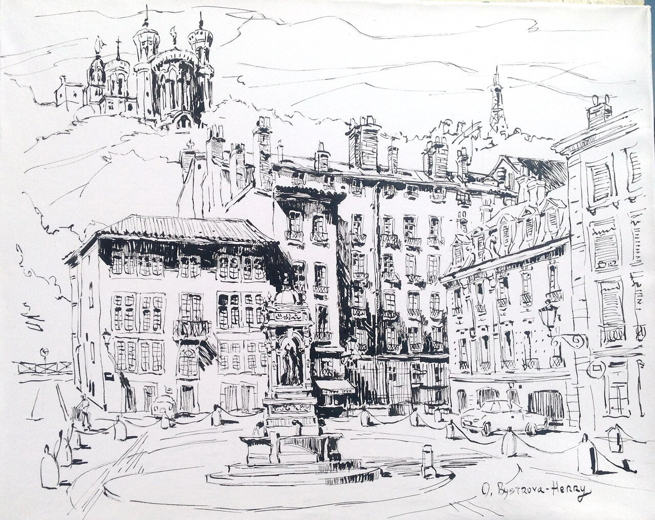 010. Lyon. Place St Jean.