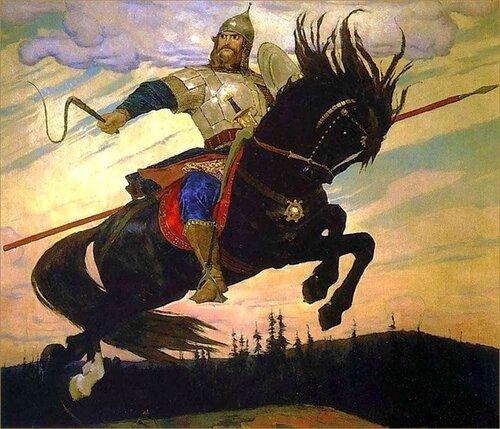 """""""Богатырский скок"""". Виктор Васнецов. 1914.На княжеской службе."""