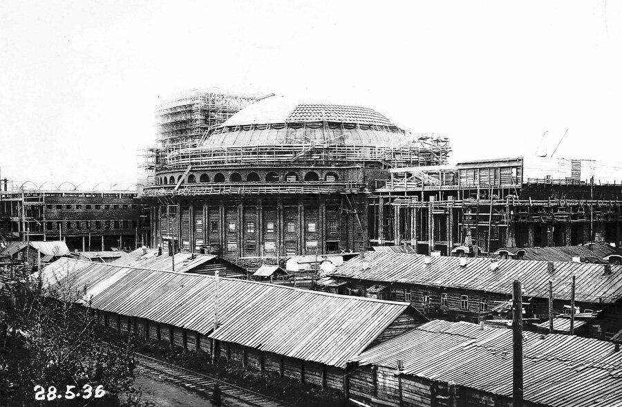 Строительство театра оперы и балета, 28 мая 1936 г.