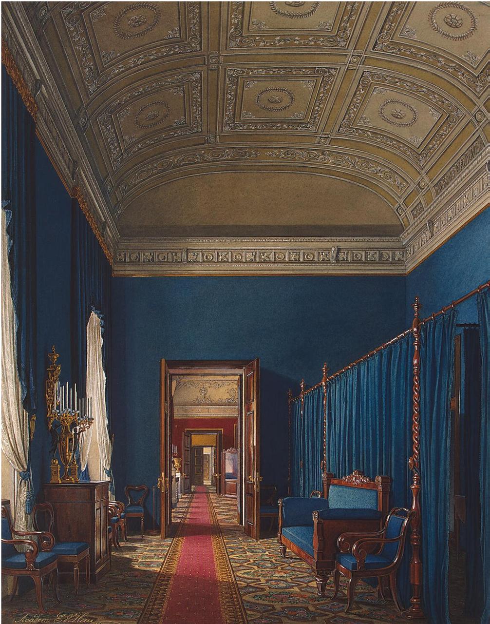 Интерьеры Зимнего дворца. Гардеробная комната герцога М. Лейхтенбергского