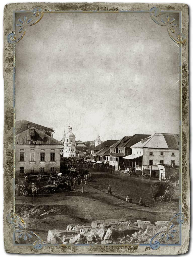 Вид площади перед Воскресенским собором, 1890-е