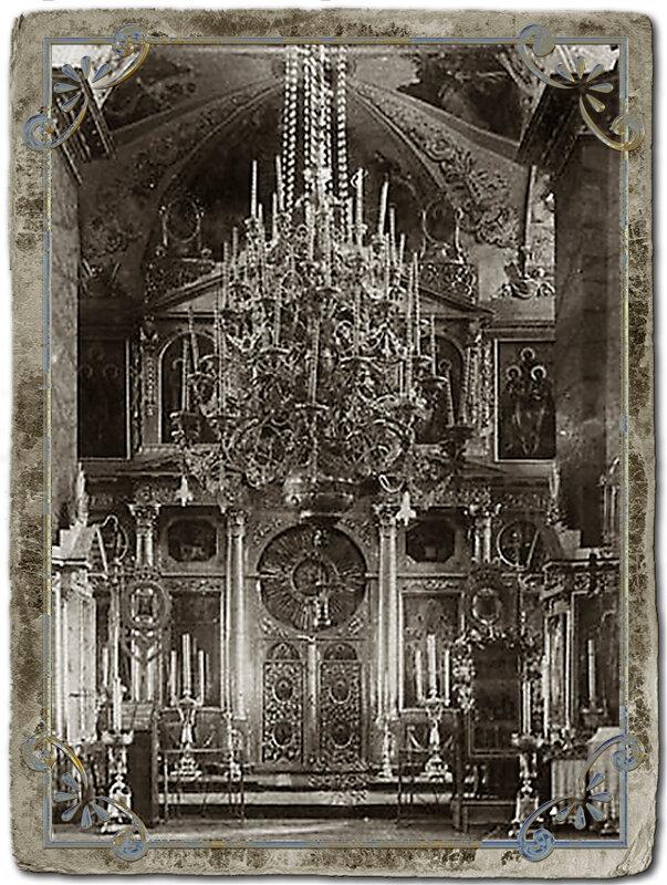 Внутреннее убранство Воскресенского собора.