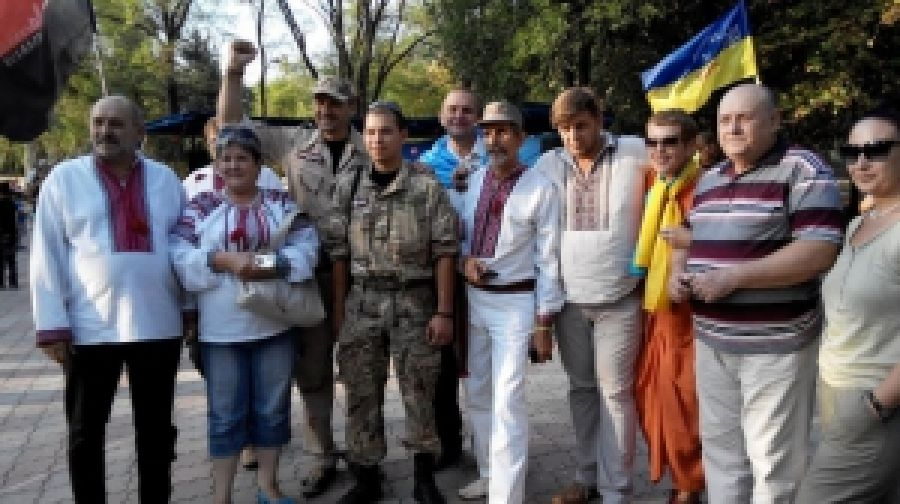 Праздник флага на Донбассе