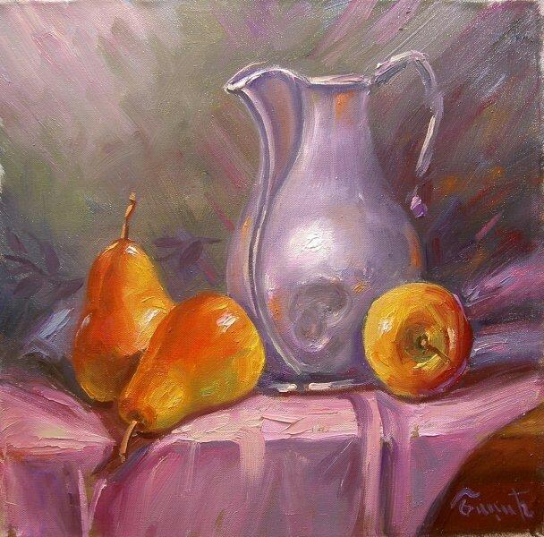Натюрморт с грушами. Miomir Badzic