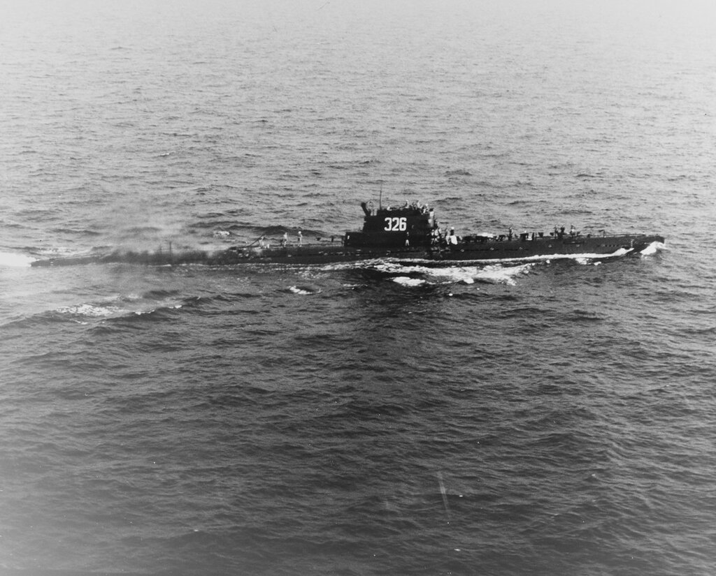 W Class (Soviet SS). Sighted in The Atlantic by an S-2E of VS-22, January 1969.