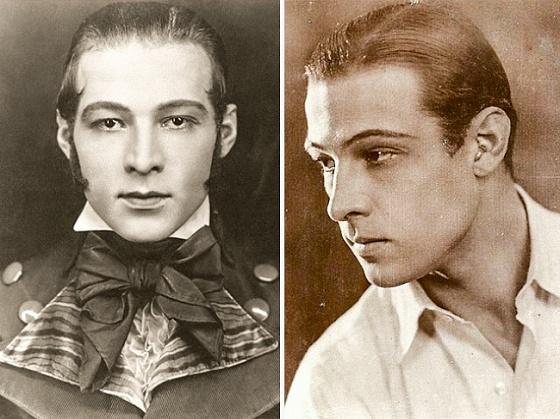 1920-е   Зализанная прическа и томный взгляд  Все сходят с ума от кинематографа и Рудольф