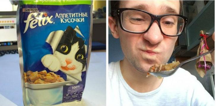 Felix аппетитные кусочки с кроликом в желе Первое впечатление — странный запах, а вкус еще более стр
