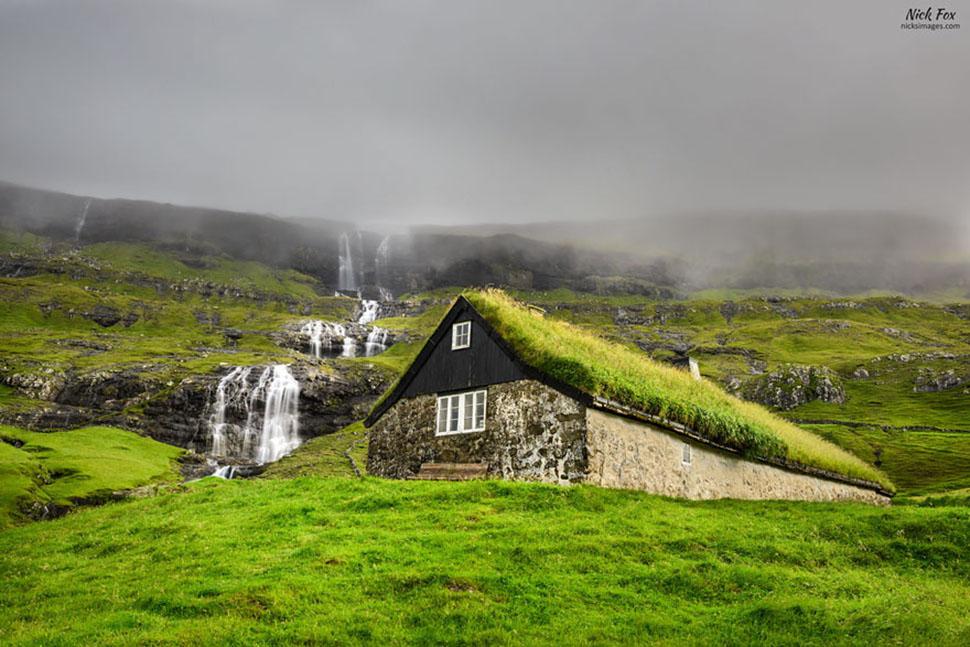 Саксун, остров Стреймай, Фарерские острова.
