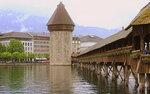 Мост Капелльбрюкке с башней Вассертурна
