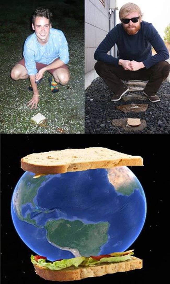 сэндвич с земным шаром