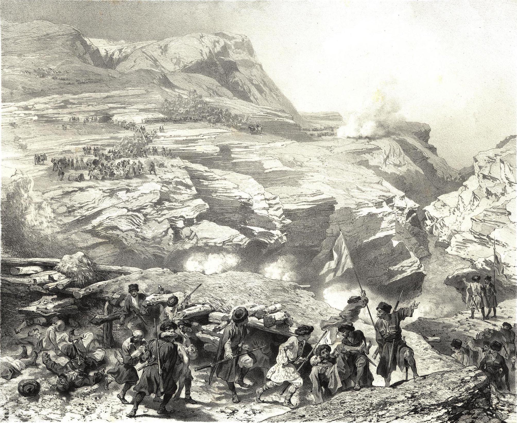 61. Daghestan. Passage du Soulakh a Akhatl / Дагестан. Переход через Сулак у Ахатла