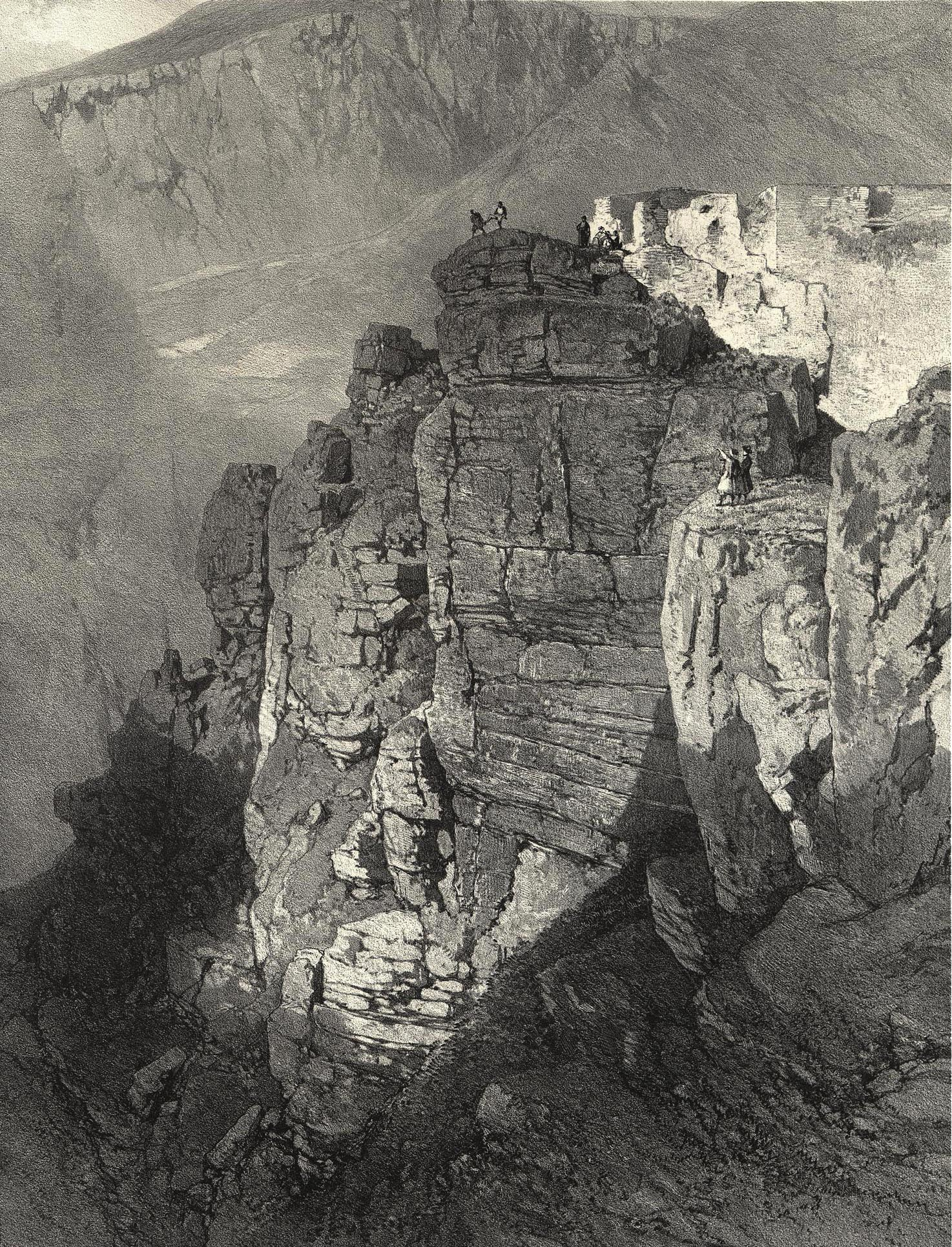 71. Daghestan. Rocher a Khounzak en Avarie / Дагестан. Скала Хунзах в Аварии