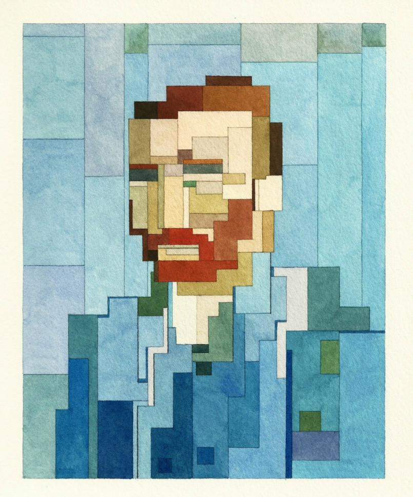 Pixelated Watercolor Paintings by Adam Lister (12 pics)