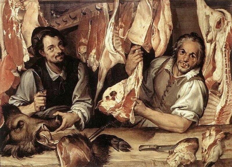 1 Bartolomeo Passarotti (Italian artist, 1529-1592)  Butcher Shop, 1580s.jpg