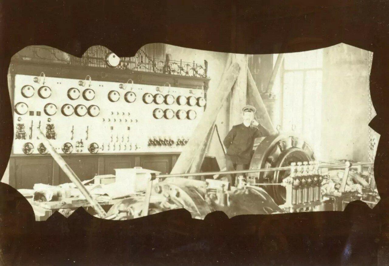 Монтаж электростанции. 1905
