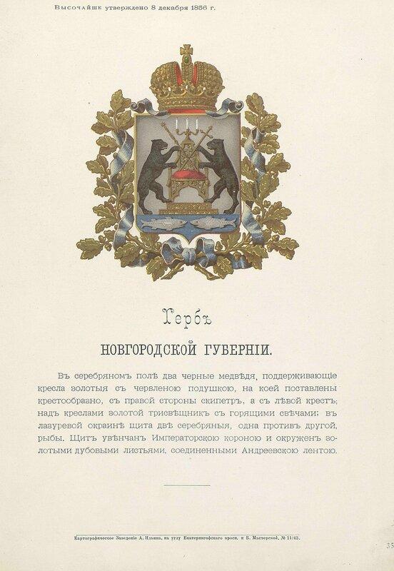 Новгородская губерния 1880 год
