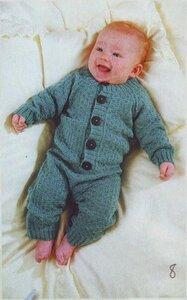 Схема вязания детского костюма на спицах 645