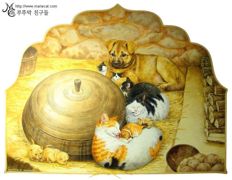 Кошки и тигры и драконы, все это в Малайзии и Японии.