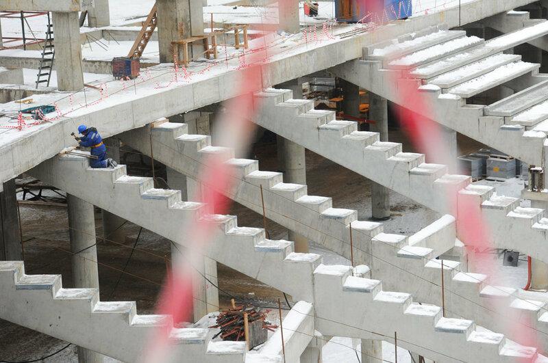 Строительство стадиона «Спартак» декабрь 2012 (Фото)