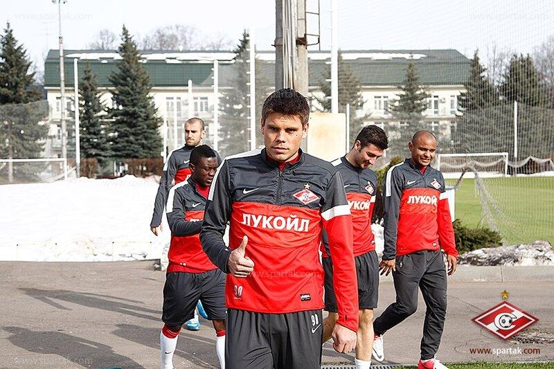 Тренировка «Спартака» накануне матча с «Амкаром» (Фото)