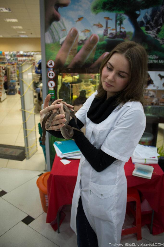 Девушка со змеямии