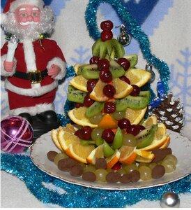 Фруктовая ёлка - десерт для новогоднего стола