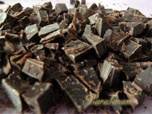 Шоколад измельчить ножом