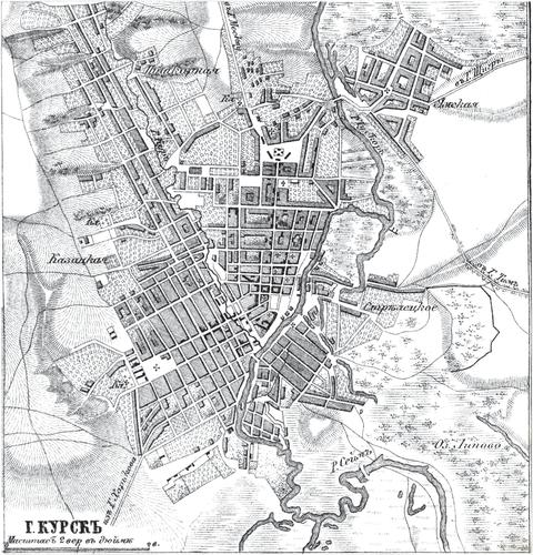 Генплан города Курска на 1876 год