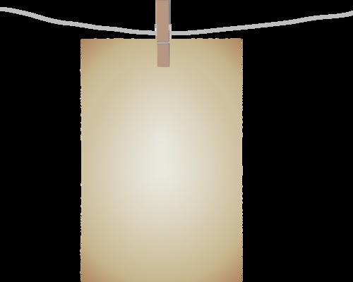 лист на прищепке