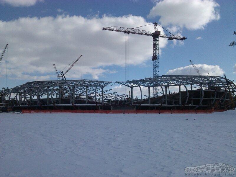 Строительство стадиона БАТЭ 27.03.13