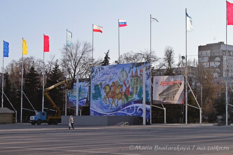 Скоро Новый год, Саратов торжествует! Театральная площадь, 14 декабря 2012 года
