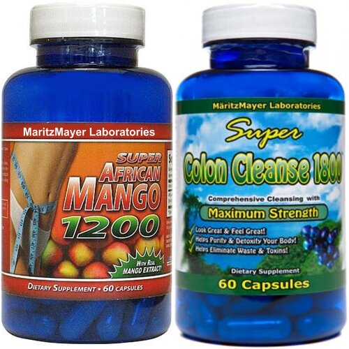 ... AFRICAN MANGO 1200 & COLON CLEANSE 1800 MAXIMUM STRENGTH WEIGHT LOSS