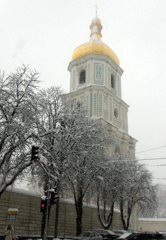 София Киевская зимой