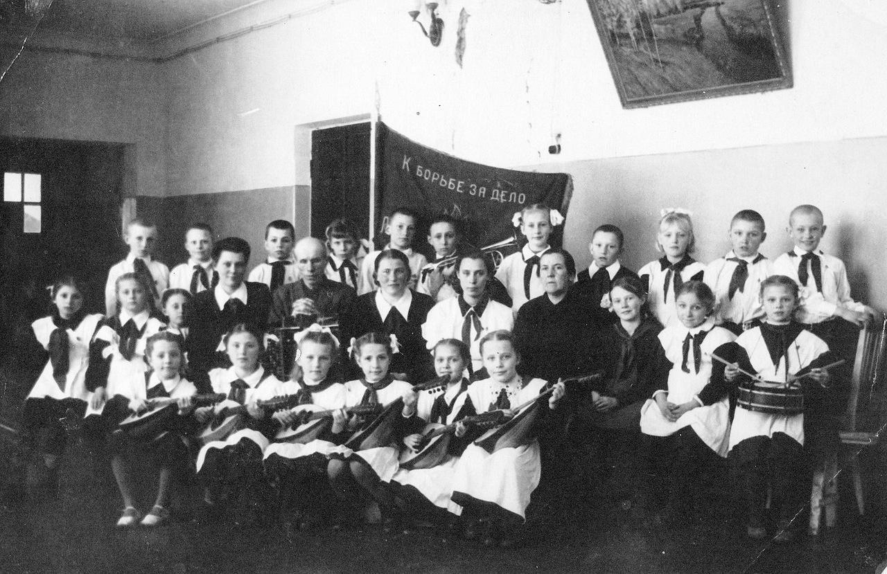 1950-е. Новосильская средняя школа