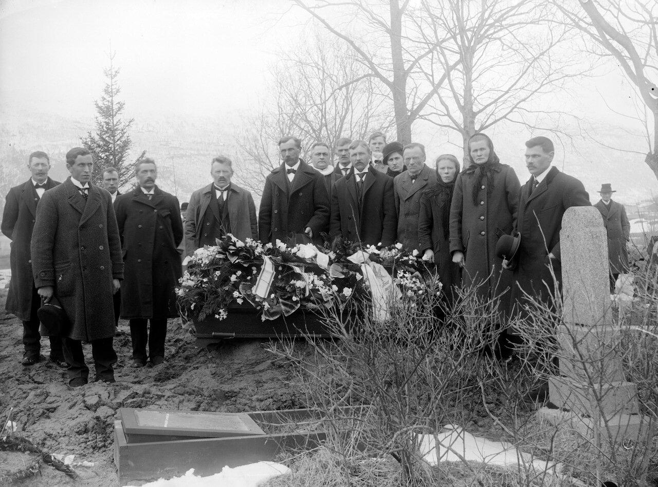 Похороны, Норвегии, ок. 1890-1910.