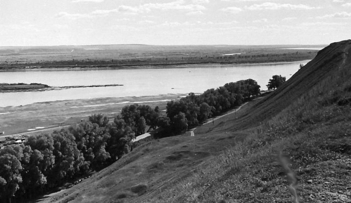 Вид на Каму с Чёртова городища.